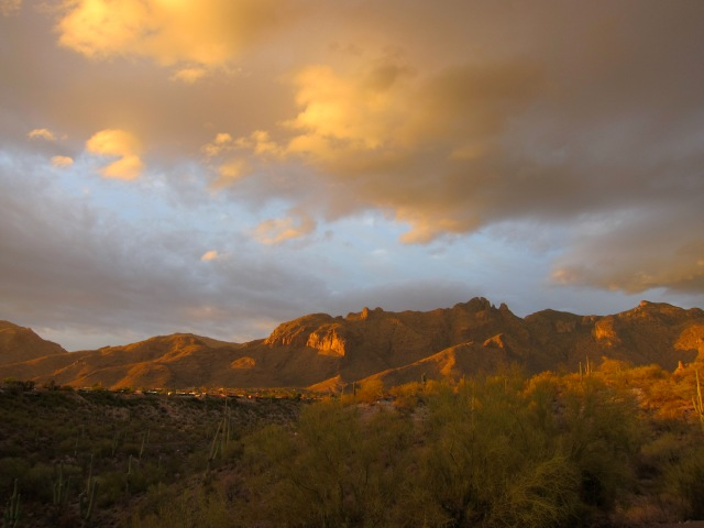 Tucson Mountains, Mellow Sunset