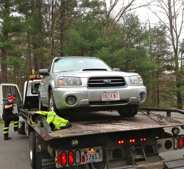 Subaru Being Towed